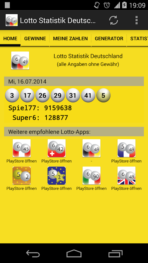 Lotto statistik JellyBean 76850