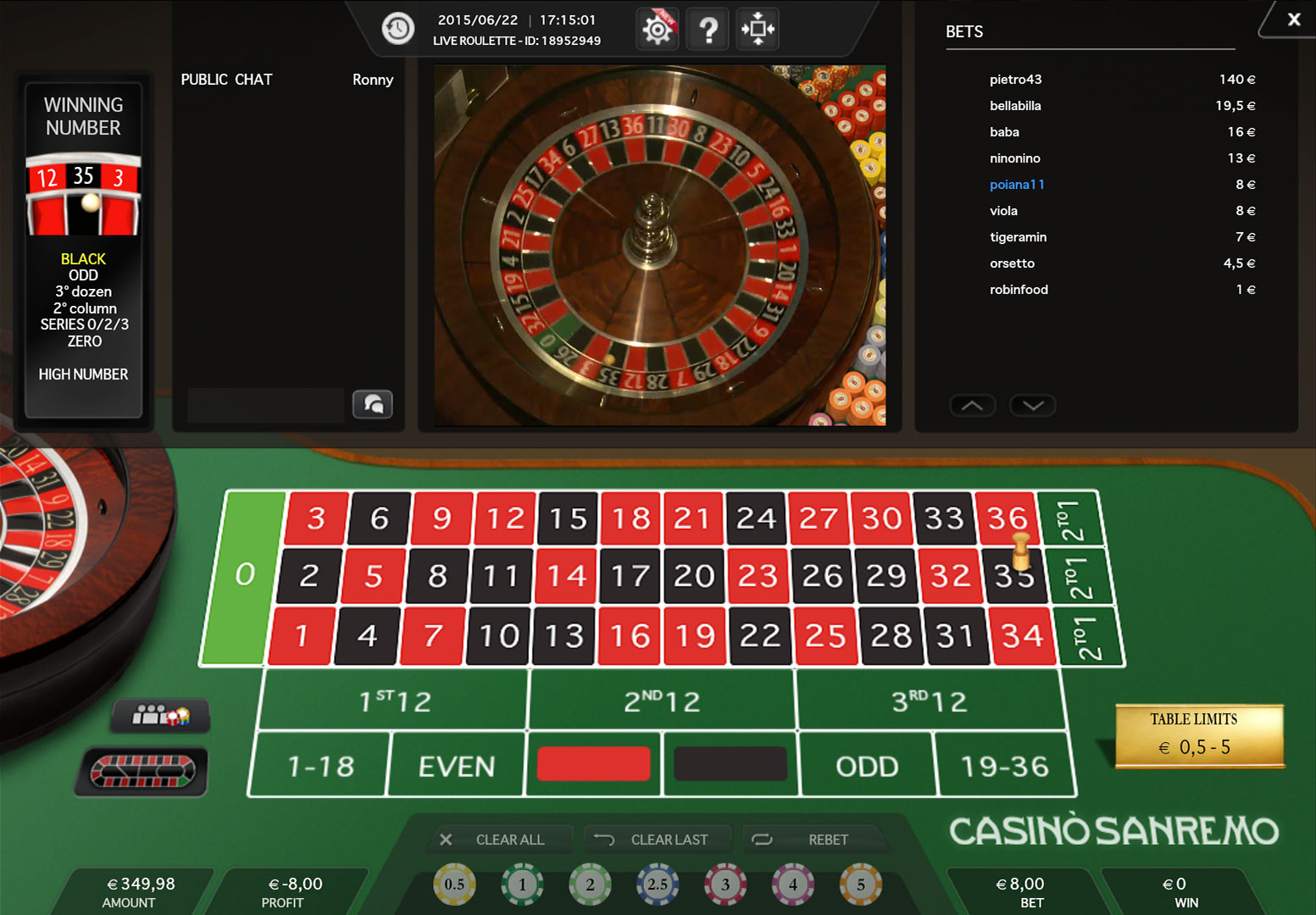 Roulette payout 48670