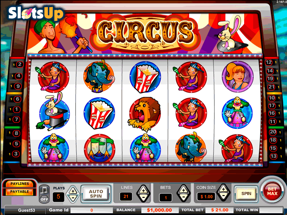 Circus free spins 46290