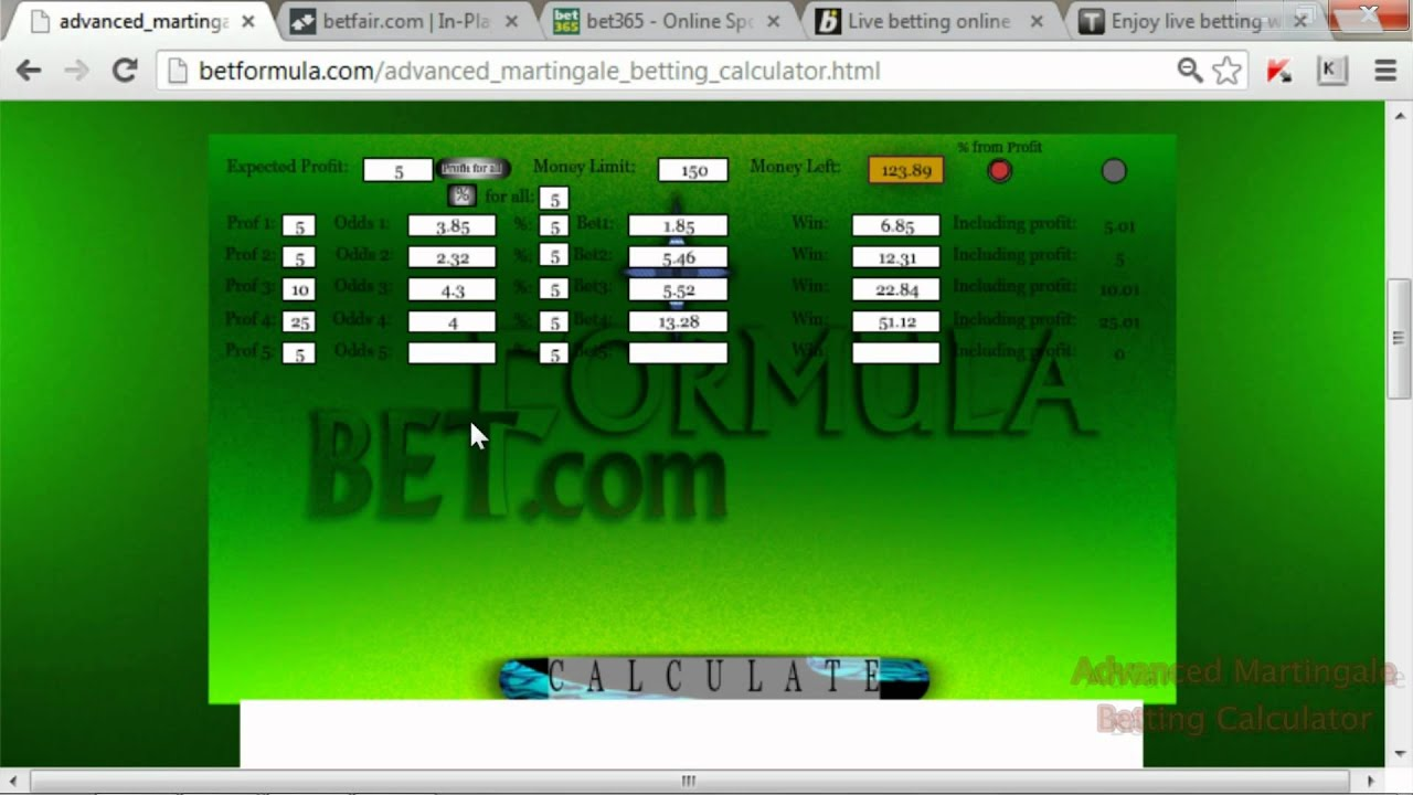 Martingale betting System 86999
